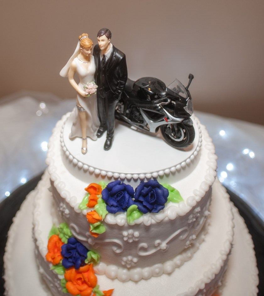 Bobbi Rose Photography - Melissa and Jason Wedding - Unique motorcycle cake