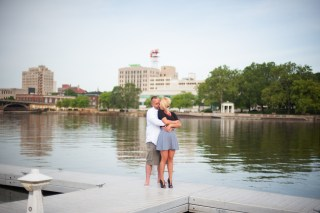 engagement session - wedding photographer - bobbi rose photography - prairie street brewhouse rockford, il