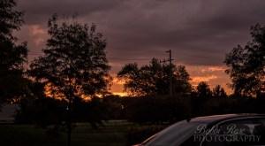 Cambridge Lakes Pingree Grove weather - Bobbi Rose Photography - Sunrise during storm