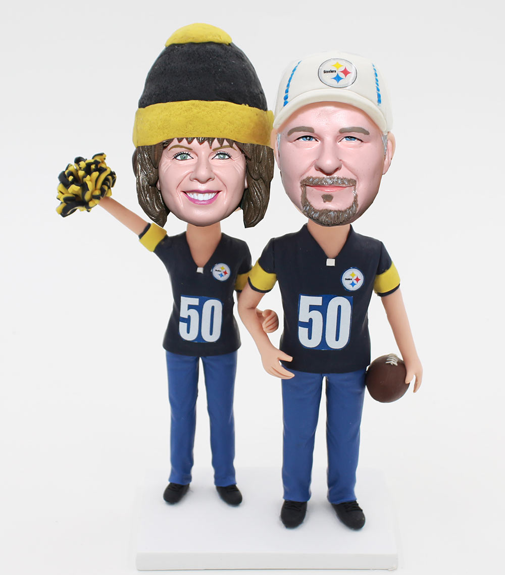 Custom Bobblehead Couple Doll Happy 50th Anniversary