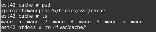 Limpar o cache do Magento do backend