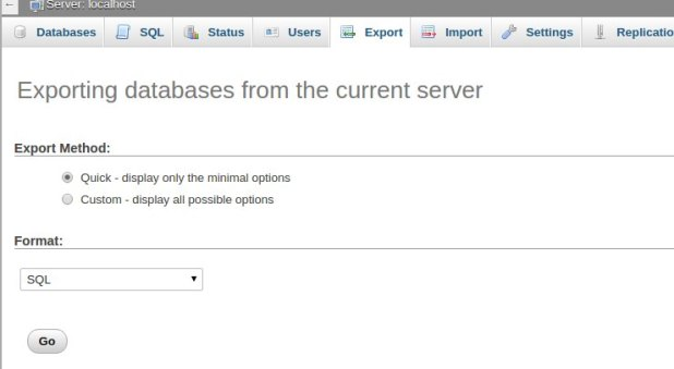 Cópia site WordPress - exportar banco de dados para arquivo
