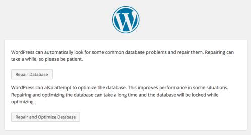 Erro do WordPress estabelecendo conexão de banco de dados - banco de dados de reparo