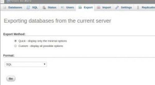 Banco de dados de exportação wordpress mirror