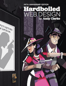 Cover of Hardboiled Web Design book.