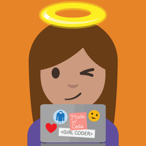 White Hat Hacker Girl Coder Emoji for #WorldEmojiDay