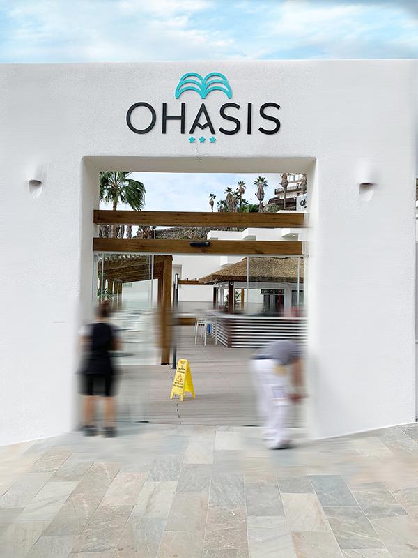 Hotel Ohasis- Letras Recortadas