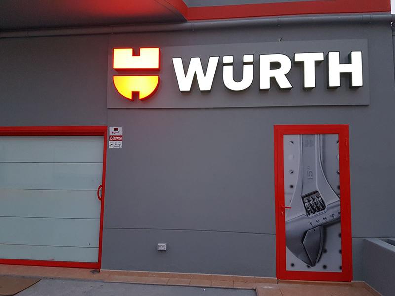 Wurth Rótulo Luminoso