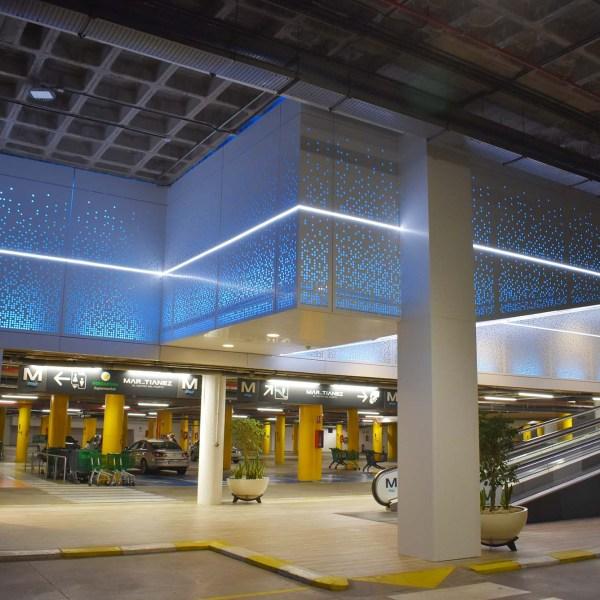 Revestimiento fachada ventilada Iluminación perimetral Led Profilecomposite tenerife canarias