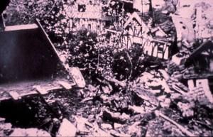 Destroying the Woodcarvers garden. Woolmer Green.