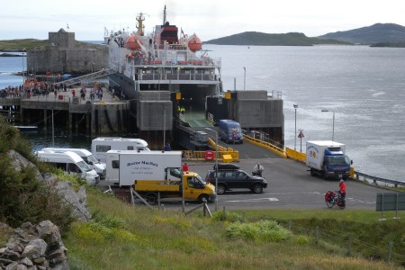 Disembarking at Castlebay, Barra
