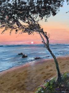 """Warm Sunset"": 12"" x 16"" acrylic original"