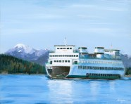"""""""First Ferry"""": Original SOLD/Canvas mounted print available"""