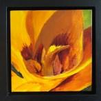 """Bloom"": 8"" x 8"" acrylic original (9"" x 9"" with frame) - $225"