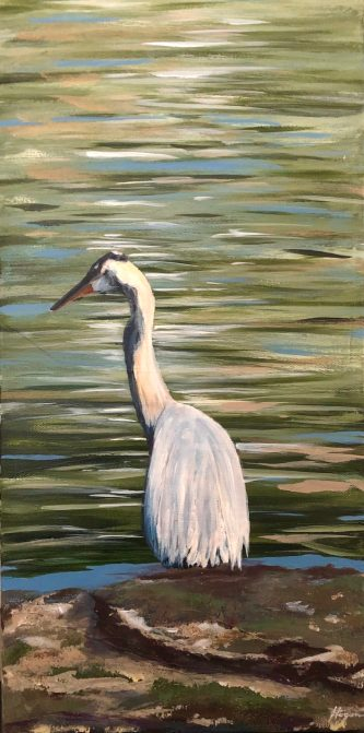 """Creativity is the blue heron within us waiting to fly; through her imagination, all things become possible."" - Janice Brown"