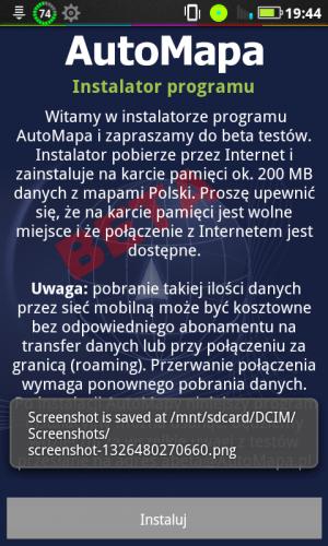 Automapa Android – Wkońcu beta!