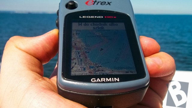 Garmin eTrex Legend HCx - na Helu, wracam do domu