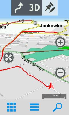 Przykład narysowanej trasy 3D+ wTwonav Sportiva 2+