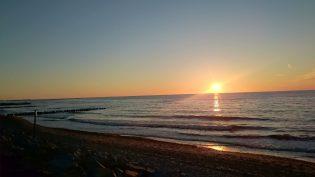 zachód słońca w Dźwirzynie