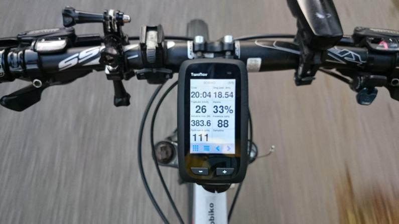 Dane na ekranie w trakcie jazdy