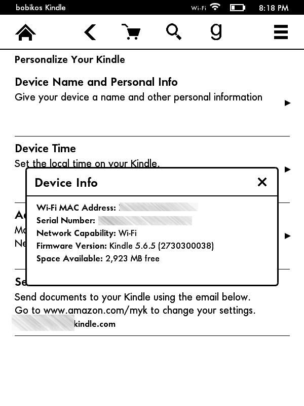 kindle 7 - screen