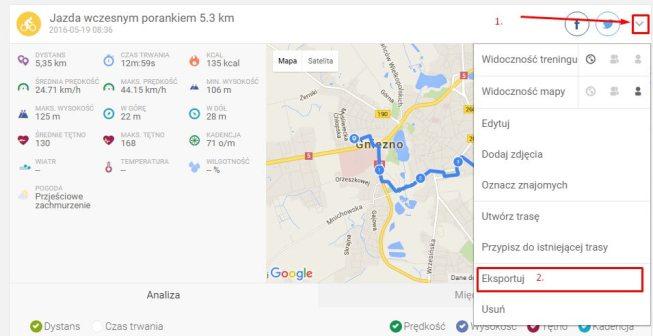Krec kilometry - Endomondo 1