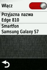 Garmin Edge 810 - sceeen - Sparowanie ztelefonem via BT