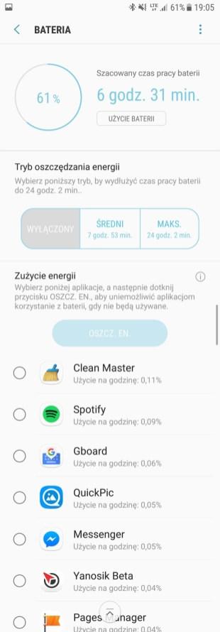 Samsung Galaxy S7 - bateria