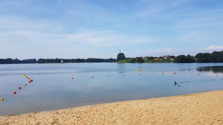 Rowerem doKołobrzegu - Jezioro Zamkowe weWałczu
