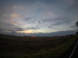 Rowerem do Kołobrzegu - słońce wstaje