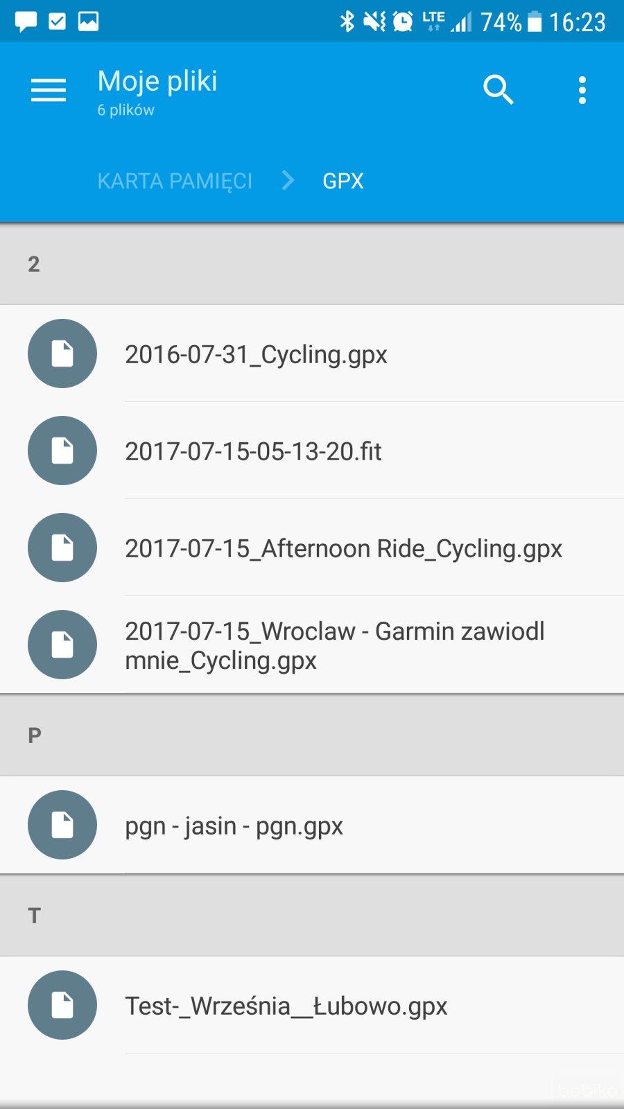 garmin mobile + Solid Explorer