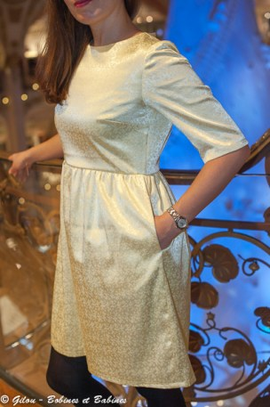 Gold Dress - Burda