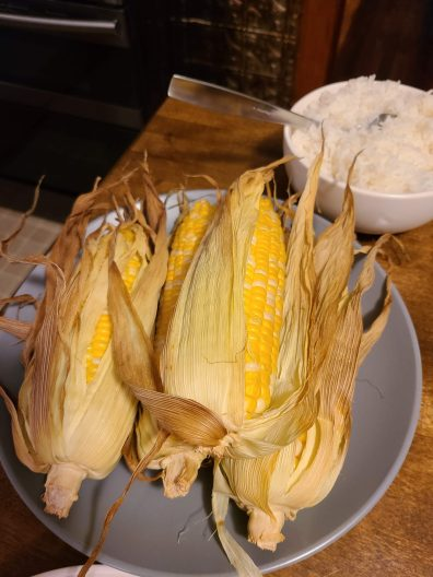 Corn on the cob too