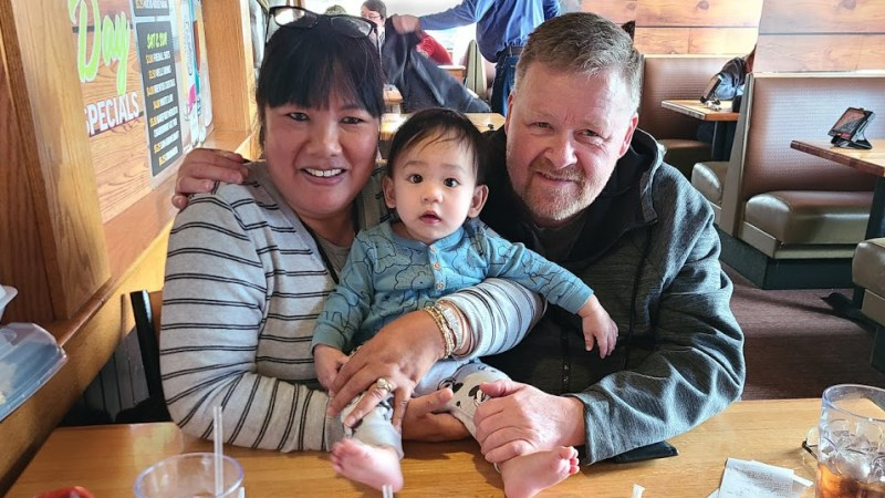 Feyma, Bob, and Cline at Applebee's