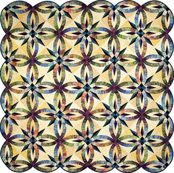 Judy Niemeyer Bali Wedding Star Kit: Bali Wedding Star Quilt By Quiltworx