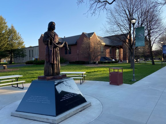 fisher of men statue on mlc campus