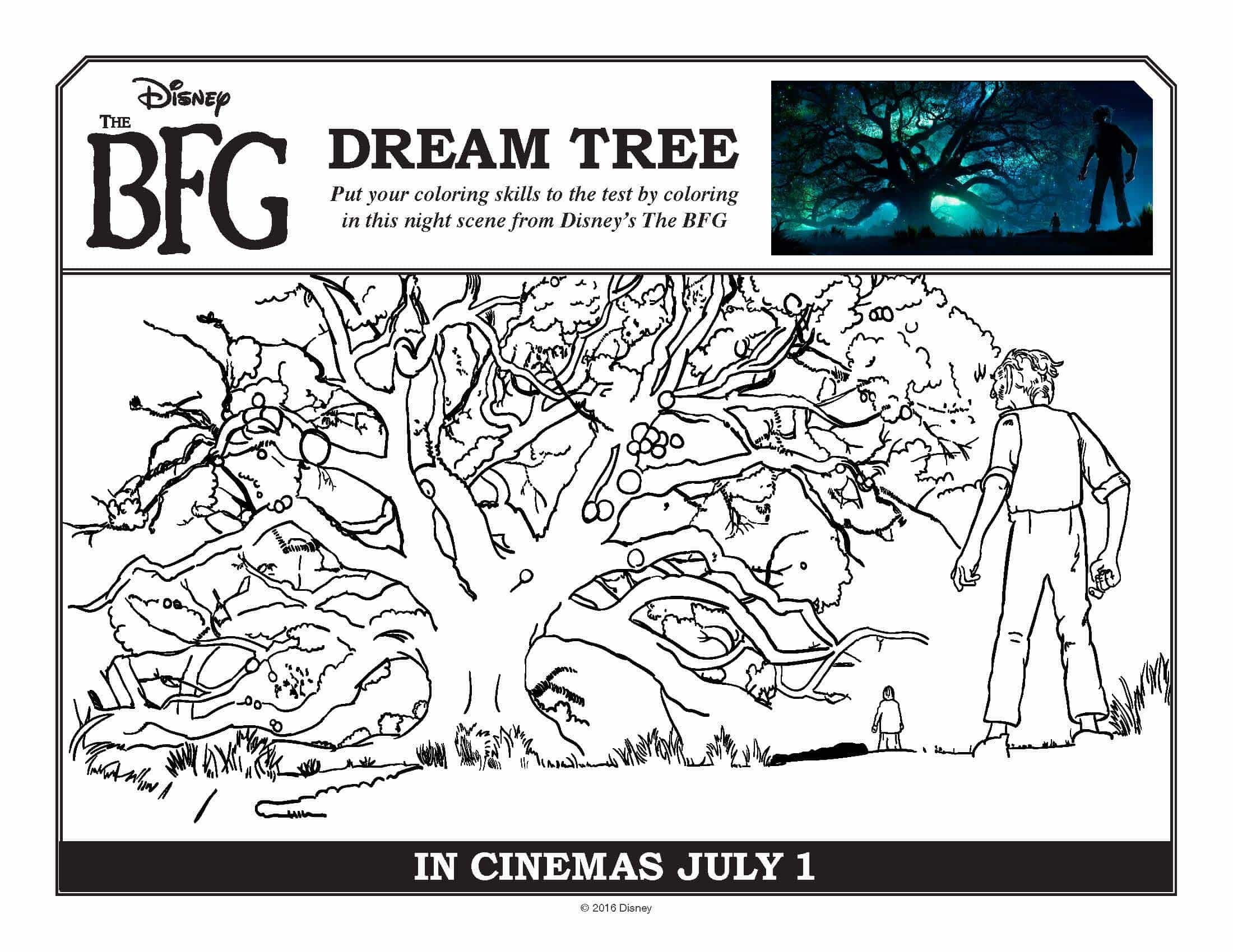 Bfg Colouring Pages