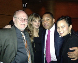 with Nicola Benedetti, Wynton Marsalis and Charlotte Lee