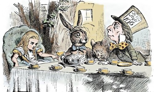 'Hypnotically nostalgic': John Tenniel's illustration for the Mad Hatter's tea party. Photograph: Print Collector/Hulton Archive/Getty Images