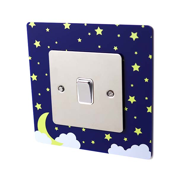 Starry Sky Acrylic Single Light Switch Surround