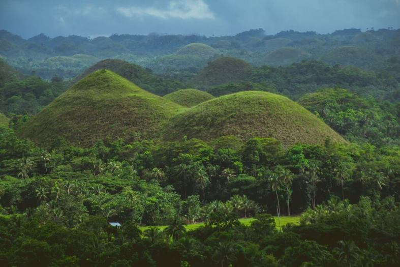Chocolate Mountains in Bohol Philippines