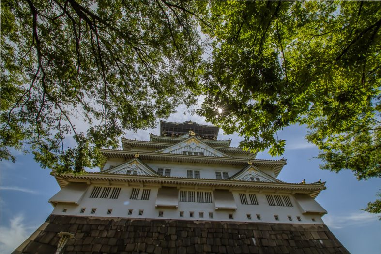 Osaka Castle Sunburst