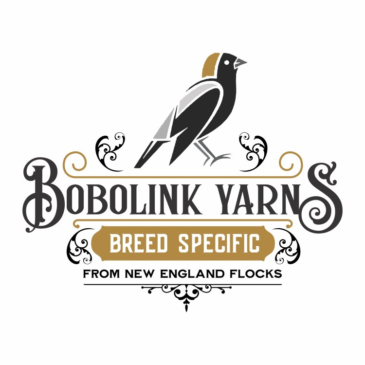 Bobolink yarns logo - features a bird
