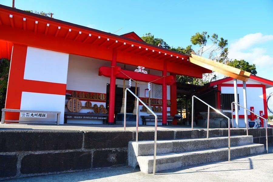 【日本。九州鹿兒島景點】南九州市。日本唯一釜蓋神社(射楯兵主神社),考驗平衡感的有趣參拜!
