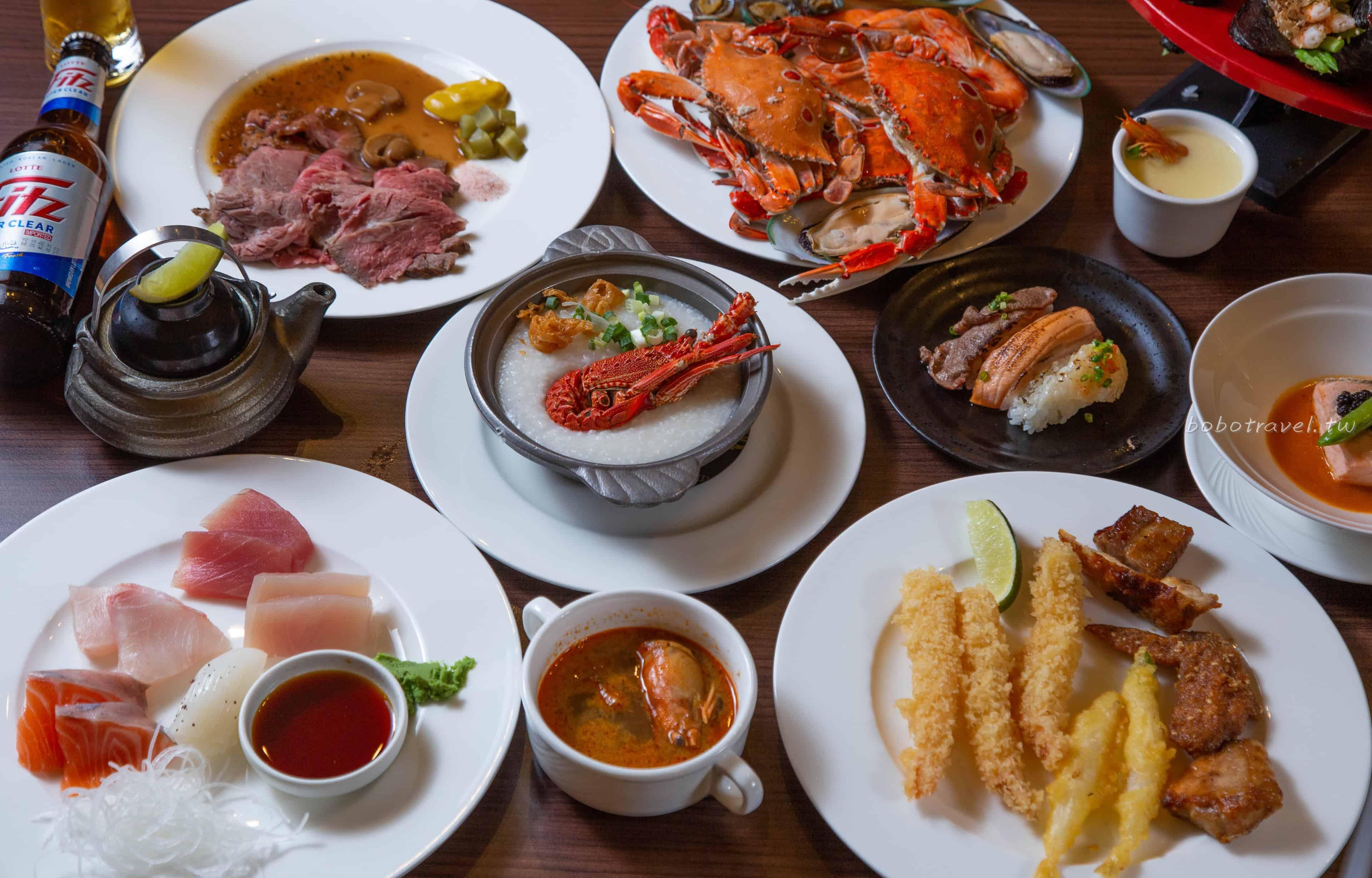 台北buffet、新莊天賜百匯自助餐|海鮮、燒烤、龍蝦粥、炙燒握壽司不限時吃到飽(天賜良緣大飯店)
