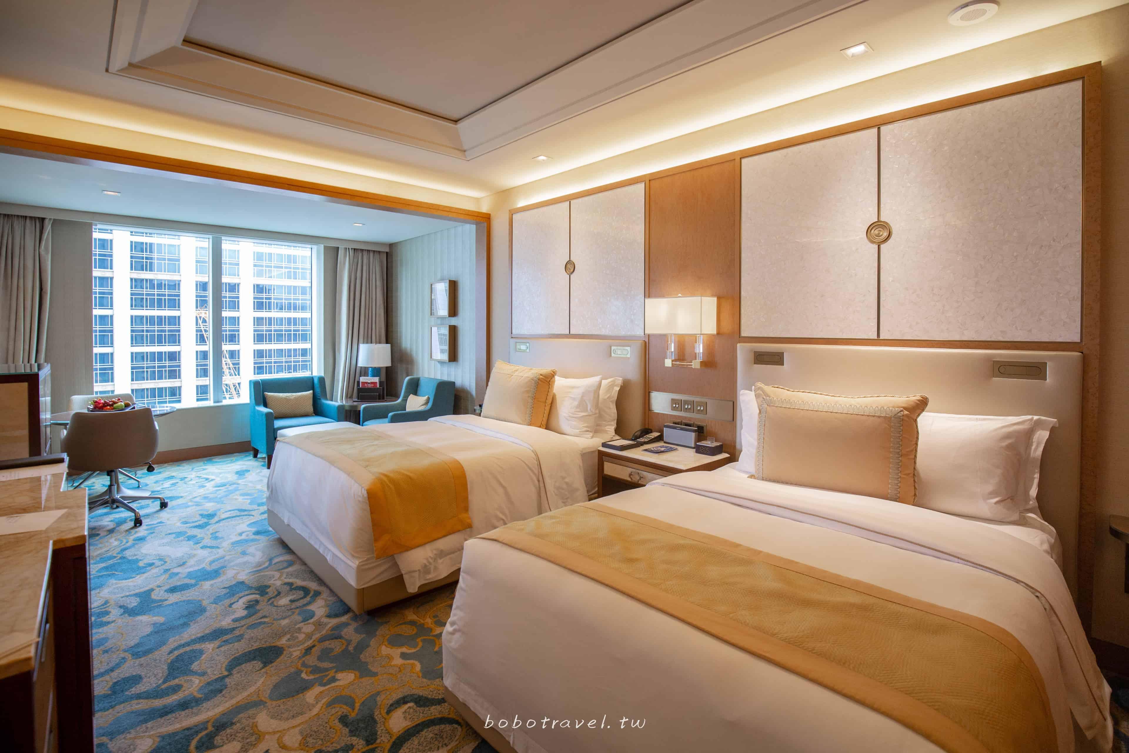 澳門住宿、瑞吉金沙城中心酒店|24小時私人管家超高規格,坐擁澳門天際線的 St. Regis Macao
