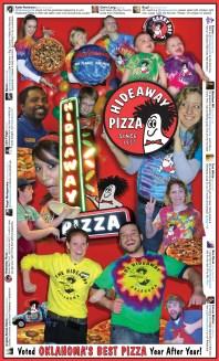Menu Design for Hideaway Pizza by Bob Paltrow Design