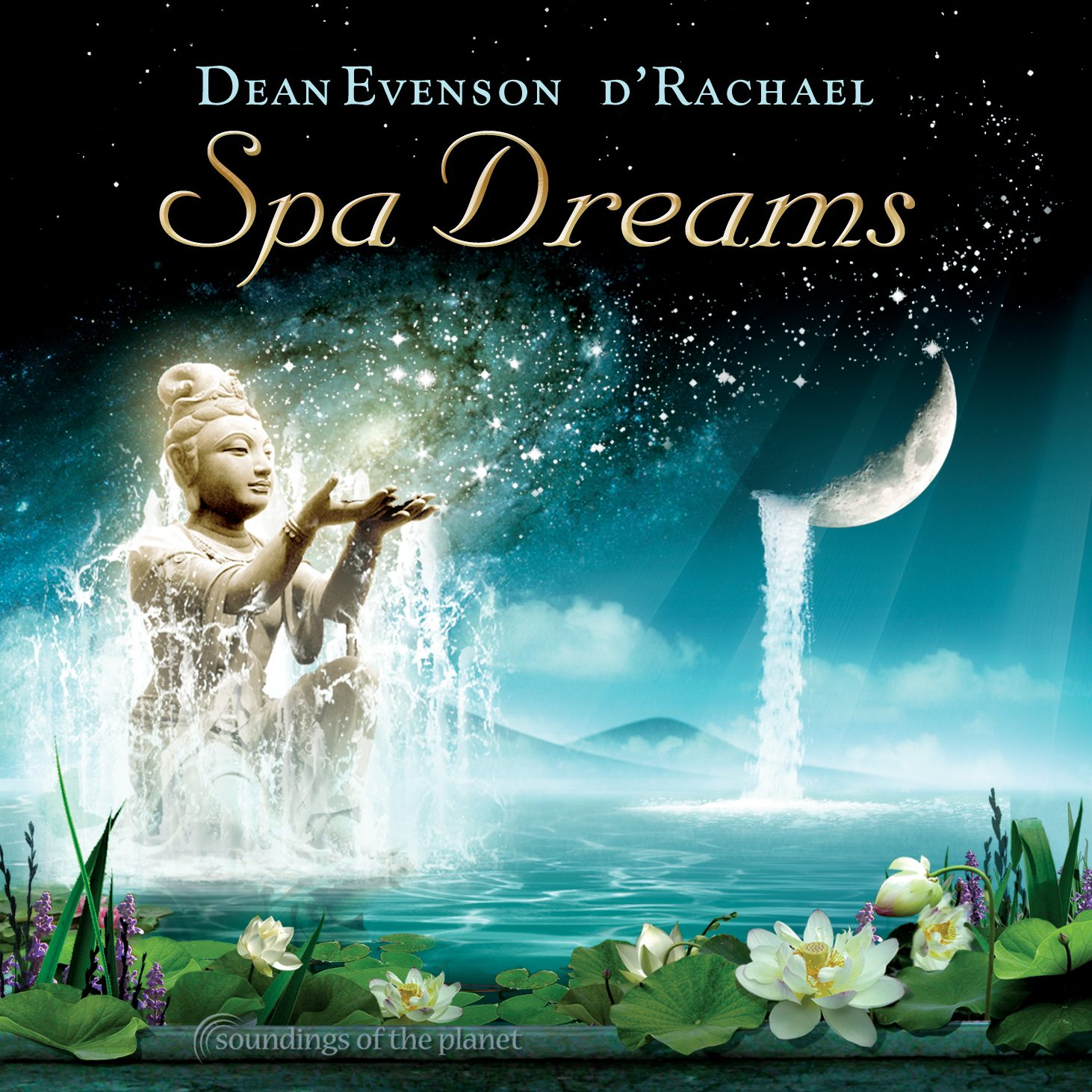 Spa Dreams by Soundings of the Planet - CD Design/Illustration by Bob Paltrow. Client: Soundings of the Planet