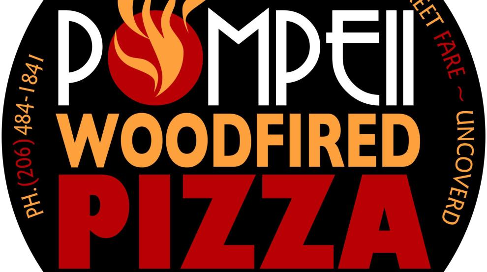 BRANDING / LOGO DESIGN - Pompeii Woodfired Pizza, Seattle WA. Logo Design and Branding by Bob Paltrow Design, Bellingham WA
