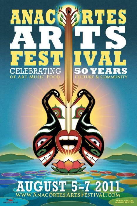 Bob Paltrow Design - Poster Anacortes Arts Festival 2011